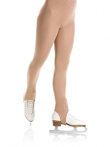 Figure Skating Artistic Costumes - Mondor 3374 Stirrup Natural Figure Skating Tights - Caramel -