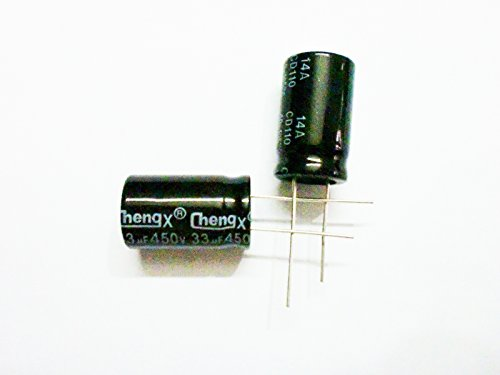 33uF 450V 16X25 +/-20% -25°C to +105°C 10PCS Aluminum Electrolytic Capacitors