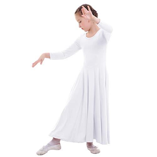 06bbe7281 Manga Vestidos Gimnasia Maillot Ballet Niñas Niña Casual Flamenco Otoño  Bailarina Invierno Vestido Disfraz Fiesta Actuación Larga Combinación Mujer  ...