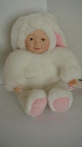 Anne Geddes Mini Bunny Rabbit Plush Bean & Plastic -