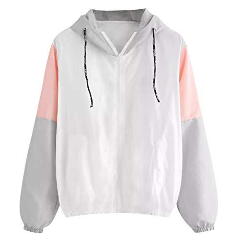 Manteau Veste Coupe Rose Mince Coat Sport Longues Capuche Femme Bringbring Manches Skinsuits Splicing Vent 6wd64pIfq
