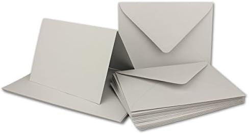 Juego de tarjetas plegables con sobres DIN B6, 115 x 170 mm ...