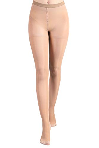 MD Sheers Therapy Closed Toe Pantyhose Medical Quality Ladies Support Stocking 20-30 mmHg NudeS