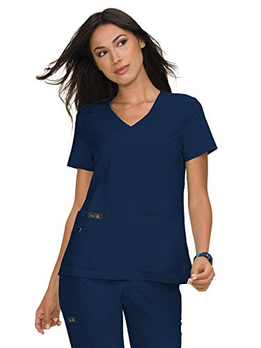 KOI Basics 373 Women's Becca Scrub Top Navy M
