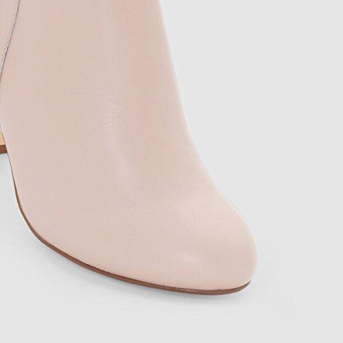 Las Botas De Cuero Redoute Mademoiselle R Para Mujer Tamaño 40 Beige