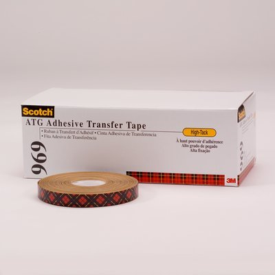 3M (969) ATG Adhesive Transfer Tape 969 Clear, 0.50 in x 18 yd 5.0 mil [You are purchasing the Min order quantity which is 24 Rolls]