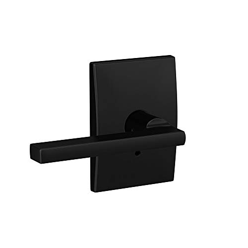 (Schlage Custom FC21 LAT 622 CEN Latitude Lever with Century Trim Hall-Closet and Bed-Bath Lock, Matte Black )