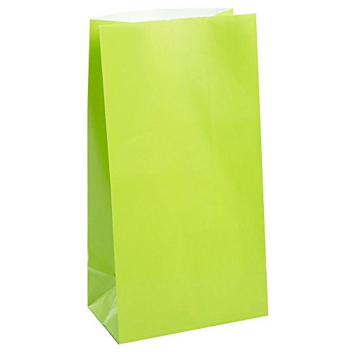 (Lime Green Paper Party Favor Bags,)