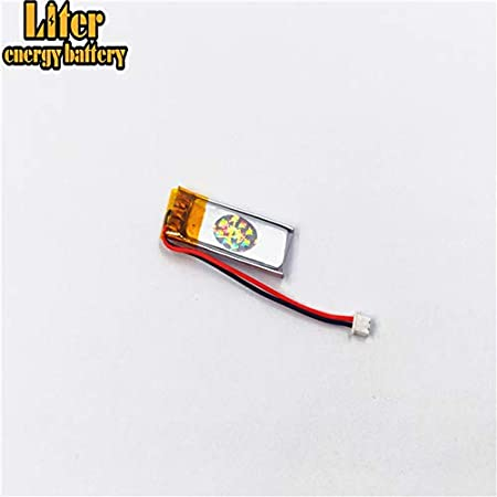BIHUADE 3.7V 603048 900mAh Jst Ph1.25 Connector Plug Lithium Polymer Li-Po Battery Lithium Ion Polymer Rechargeable Battery for MP4 GPS MP3 Bluetooth Stereo DIY Gift 603048