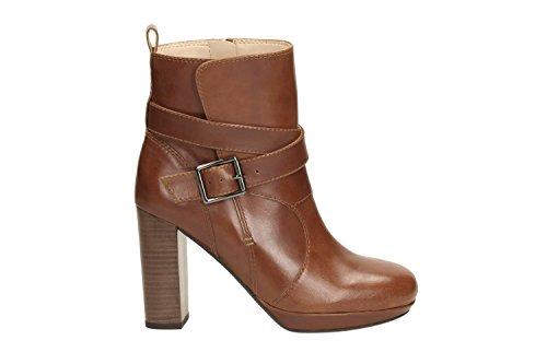 Clarks Gabriel Mix Tan Leather Ladies Damen 38 EU