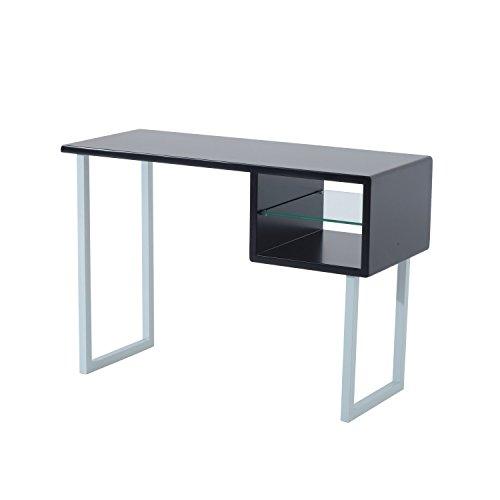 HomCom Contemporary Writing Desk - Black
