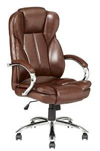 High Back PU Leather Executive Office Desk Task Computer Chair w/Metal Base O18R by BestOffice