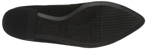 Ecco Damen Shape Pointy Ballerina Slipper Schwarz (Black)