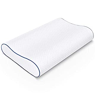 SORMAG Memory Foam Pillow, Neck Pillows for Pain Relief Sleeping, Ergonomic Cervical Pillow, Orthopedic Contour Pillow for Side, Back, Stomach Sleepers, Bed Pillows for Sleeping, Queen Size