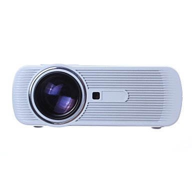 Portable Projector BL-80 LED Video Projector 1080P HD 1200-2000 Lumens Office Projector with Keystone Free HDMI for Home Cinema Theater TV Laptop Game USB SD iPad iPhone Android Smartphone-White by Nijia