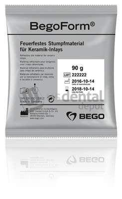 BEGO - BegoForm Refractory Die Material for Ceramic Inlay- onlays and veneers. #52785-1 Box, 1.35 kg = 15 x 90-g Bags, with 1 Measuring Syringe, Without Mixing Liquid 10-52785 Denmed Wh by BEGO (Image #1)