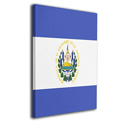 ELKFOREST El Salvador Flag Frameless Painting Abstract Oil Paintings On Canvas Wall Art Ready to Hang Bedroom Painting Home Decoration Painting Canvas Prints for Home Decorations