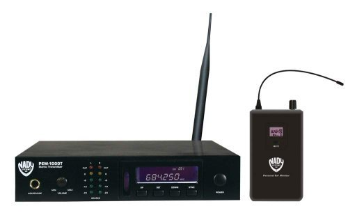 Cheap Nady PEM-1000 Wireless In-Ear Monitoring System With 100 Selectable UHF Channels And Auto Scan
