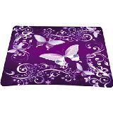 Schoolsupplies Brand New Purple Butterfly Rectangle Non-slip Rubber Mousepad Gaming Mouse Pad -