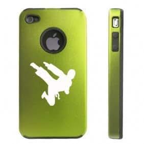 Apple iPhone 4 4S Green D2204 Aluminum & Silicone Case Cover Ninja Karate