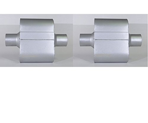 """Pair of Single Chamber Performance Race Mufflers 2.5"""" / 2.5"""" - Overall Length 12"""" New"""