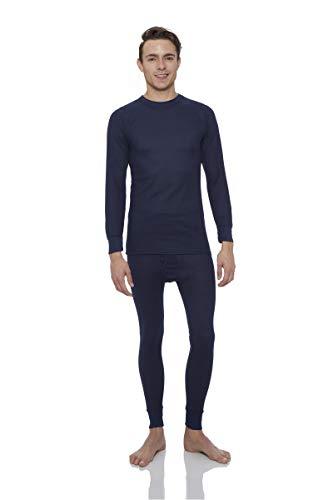 Rocky Men's Thermal 2pc Set Long John Underwear Medium Navy