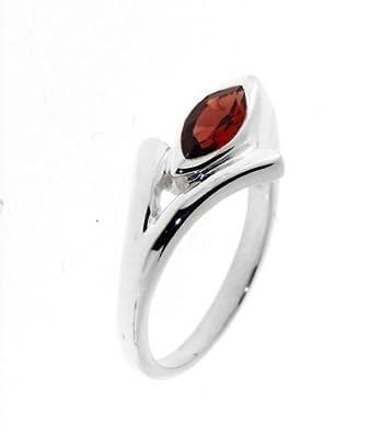 Sterling-Silber 925       Granat Ringe Trabbia Vuillermoz