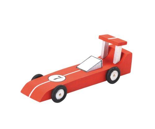 (Darice 9169-03 Wood Model Kit, Race Car)