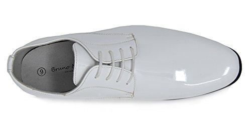 Bruno Marc Mens Ceremony Faux Patent Leather Dress Oxfords Loafers Shoes 6-white XP15q67i6E