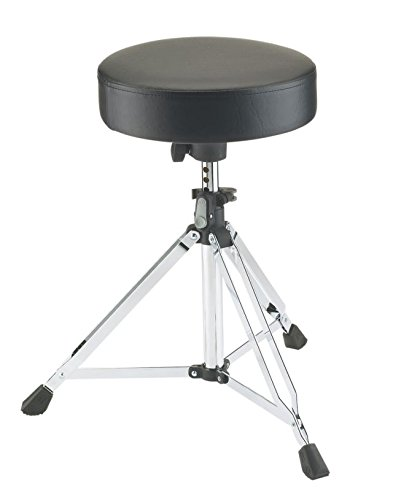 K& M Stands 14020-Chrome Double Braced Drum Throne Push-Button Height Adjustment 14020.000.02