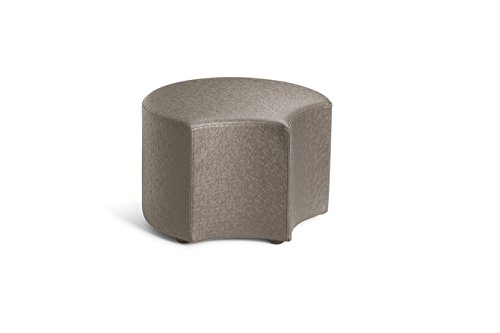 Logic Furniture MOONFCA12 Moon 4 Face Ottoman, 12'', Carbonite by Logic Furniture