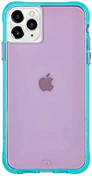 Case-Mate - iPhone 11 Pro Max Case - Tough NEON - 6.5 - Purple/Turquoise Neon (CM039404)