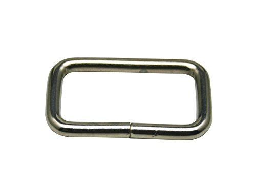 [Generic Metal Silvery Rectangle Buckle 1.25
