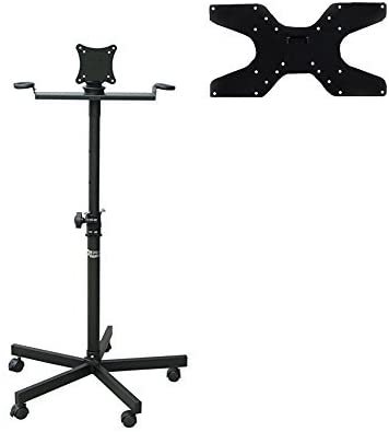 Audio2000 S AST422X Portable Flat Screen Panel LCD LED TV Monitor Stand with Wheels, Including a 400 X 200 mm Standard VESA Mounting Plate with M6 Screws
