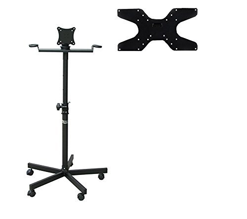 Audio2000'S AST422X Portable Flat Screen Panel LCD LED TV Monitor Stand with Wheels, Including a 400 X 200 mm Standard VESA Mounting Plate with M6 - Mm Vesa Displays 200