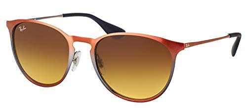 Ray-Ban Metal Unisex Sunglasses - Shot Brown Metallic Frame Brown Gradient Lenses 54mm Non-Polarized (Ray-ban Schatten)