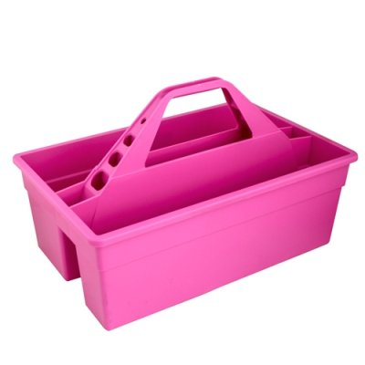 Hot Pink 17'' L x 11'' W x 11'' H Tote Max Rubber Caddy Container (1 Container)