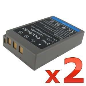 WOWparts 2pcs BLS-5 BLS5 Replacemnet Battery for Olympus PEN E-PL2 EPL2 (7.4V 1250mah)