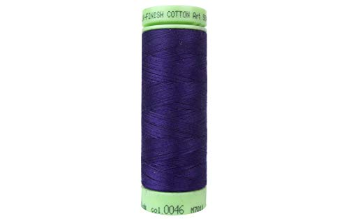 - Mettler Silk-Finish Solid Cotton Thread, 220 yd/200m, Deep Purple