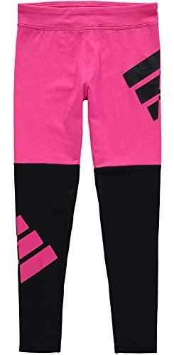 adidas Little Girls' Performance Tight Legging, Magenta/Black, X-Large -