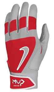 Nike GB0386 MVP Edge Batting Gloves - Youth - Red/Pewter - Texas Mall Outlet City