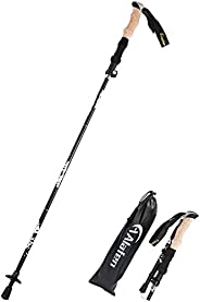 A ALAFEN Walking Stick - Collapsible Trekking Pole for Men and Women,7075 Aluminum Hiking Stick for Seniors