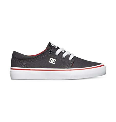 DC Trase TX Skate Shoe (Little Kid/Big Kid),Dark Shadow/White/Athletic Red,5.5