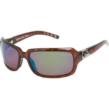 3d6a81c4a9313 Amazon.com  Costa del Mar Isabela Sunglasses Tortoise Green Mirror  580Glass  Clothing