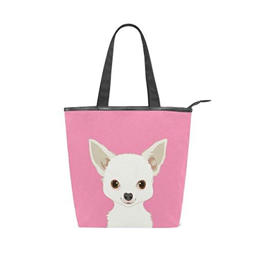Canvas Handbag Dog Bag Tote Womens Shoulder MyDaily Chihuahua 8nSOx