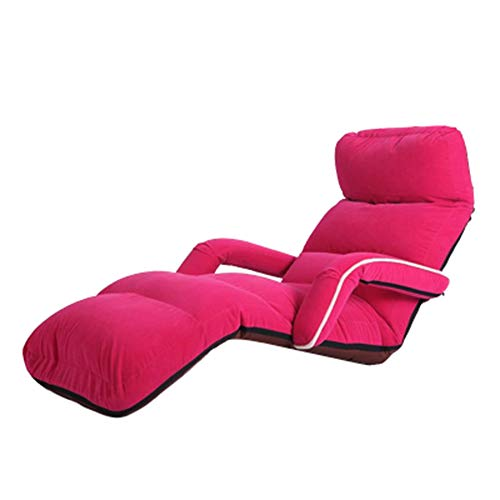 Lazy Sofa Bed Armrests Foldable Washable Nap Lounge Chair Bay Window Bedroom Rest Bed Load Bearing 150kg (Color : Pink) (Living Sustainable Room Furniture)