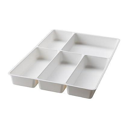 IKEA VARIERA - Bandeja Cubiertos, blanco - 31x50 cm