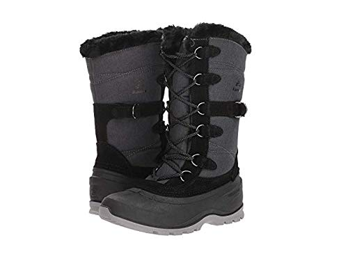 Kamik Women's SNOVALLEY2 Snow Boot, Black, 9 Medium US