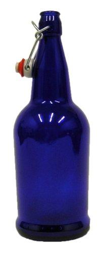 Home Brew Ohio B0064OKW5O FBA Cobalt Blue 32 oz. EZ Cap Beer Bottles, CASE of 12