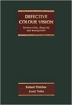 Book Defective Colour Vision, Fundamentals, Diagnosis and Management